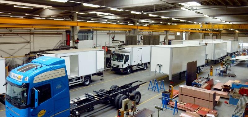 In de productie wordt een gevarieerd programma transportmiddelen geproduceerd!