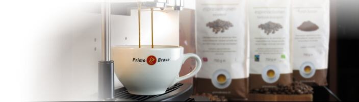De beste koffie voor op het werk is Primo Bravo