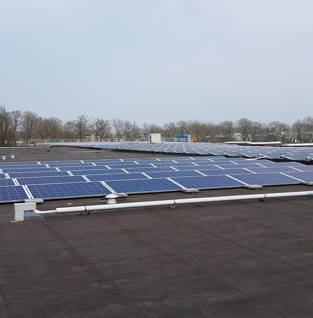 zonnepanelen op het dak van Langerak de Jong